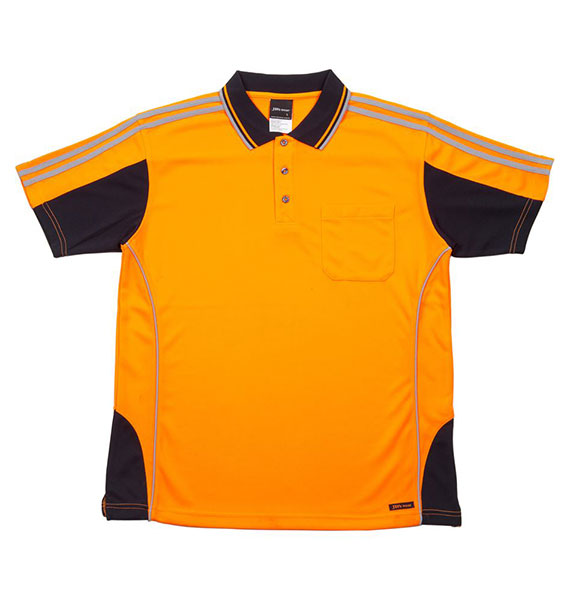 Hi Vis S/s Arm Tape Polo