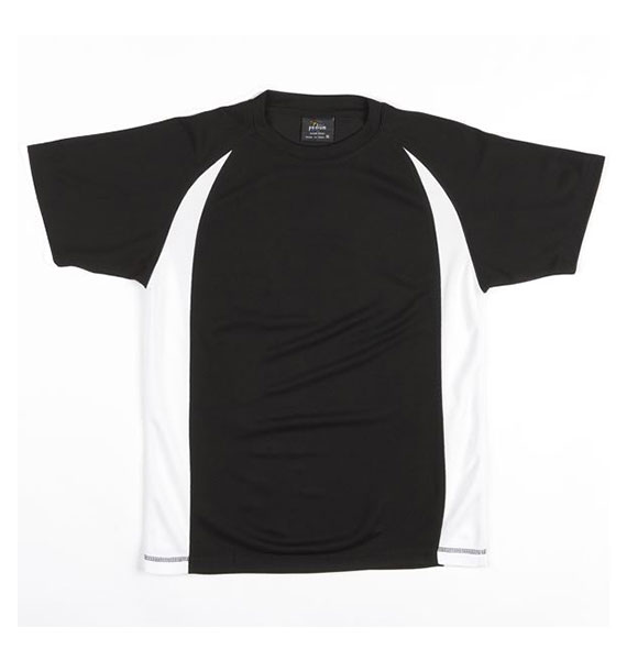 Mens Adults Podium Point Poly Tee