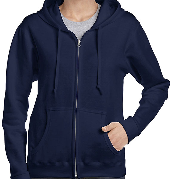 Gildan Ladies Heavy Blend Full Zip Hooded Sweatshirt