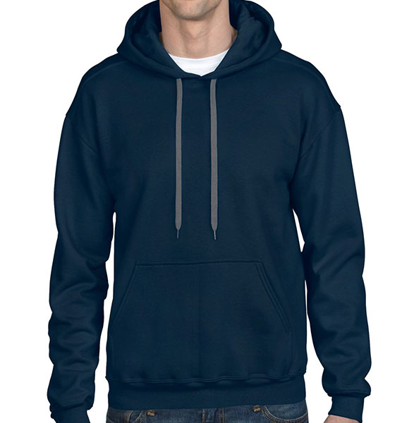 Gildan Mens Premium Cotton Hooded Sweatshirt