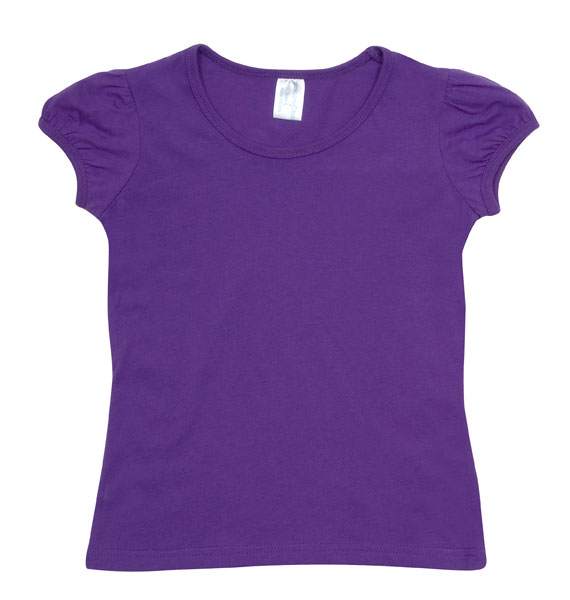 Kids Girls Short Puff Sleeve