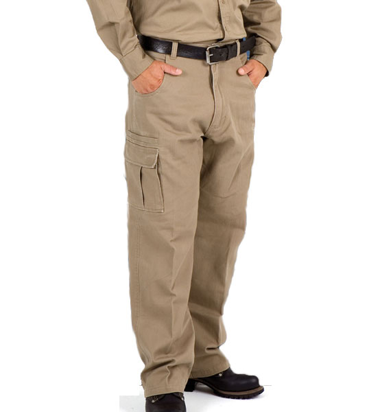 Mens Cotton Drill Cargo Pants